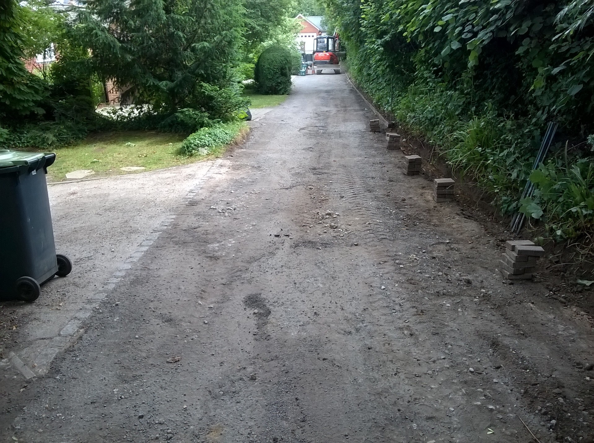 Road before resurfacing